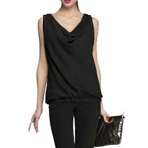 Liu Jo Jeans W15144T7952 Top T-Shirt da Donna Nero tg 40  -21 %