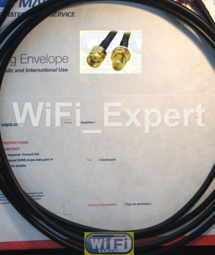 TIMES® 10/' LMR-195 Coax WiFi Extension Cable RP-SMA Male to RPSMA Female USA