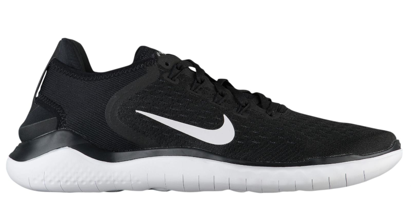 New NIKE FREE RN 2018 842836-001 - MEN'S Black/White Running Shoes c1