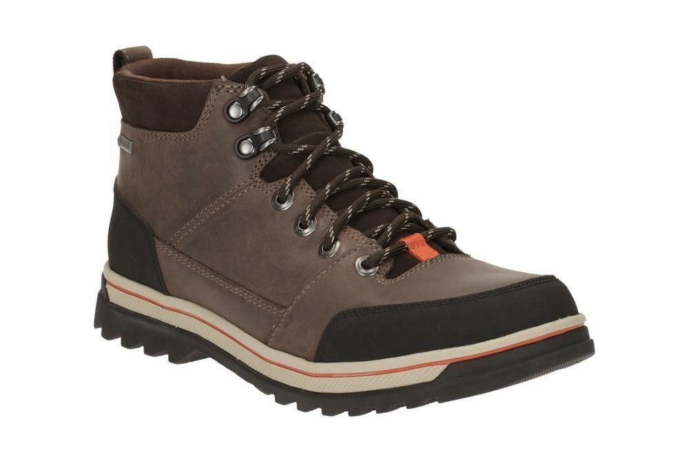 Clarks Hommes Ripway Haut Gtx Brown-wide Hiking-active Air Uk 6,7, 8,9, 10,11 H
