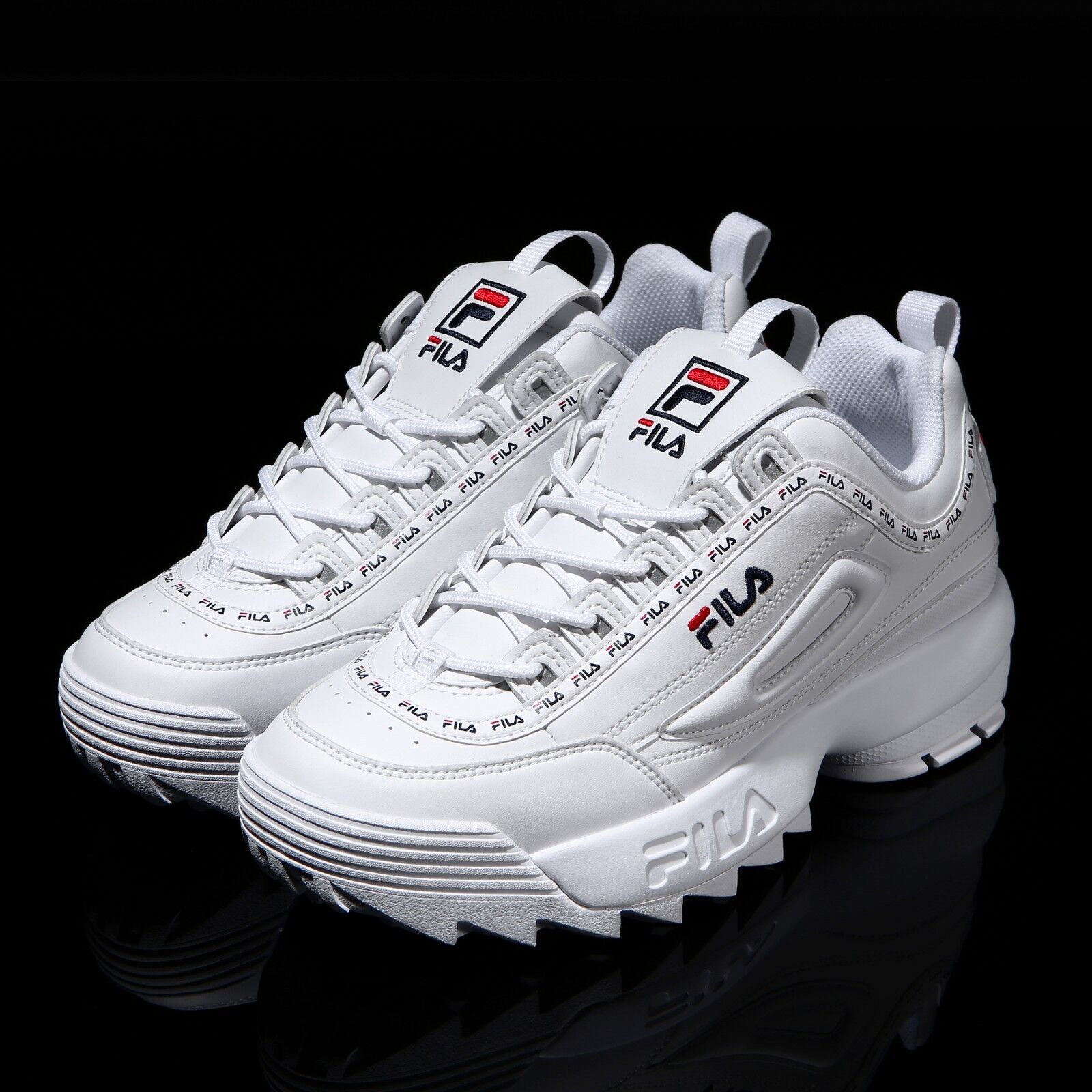 FILA Disruptor II 2 White Tapey Tape shoes Unisex Size FS1HTA3091X_WWT