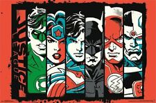 JUSTICE LEAGUE - BANNERS POSTER - 22x34 DC COMICS SUPERMAN BATMAN FLASH 14204