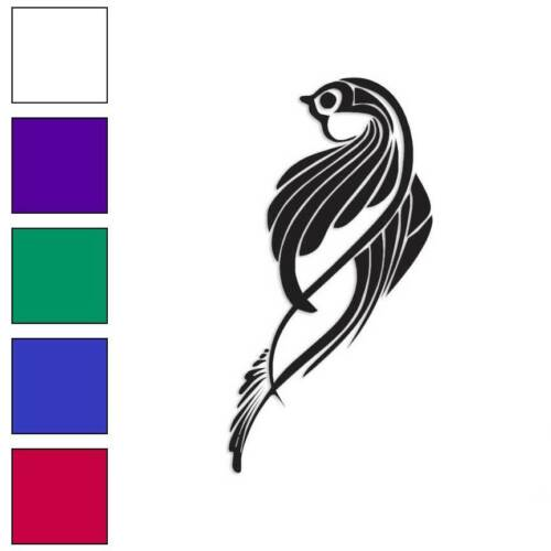Bird Perched Decal Sticker Choose Color Size #113