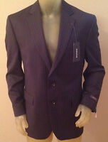 $260 Stafford Executive Classic Fit Navy Stripe Suit Jacket Mens 46r