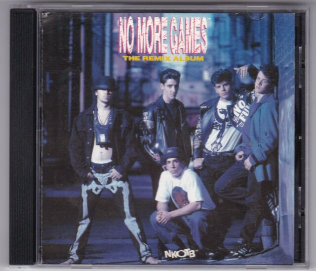 NEW KIDS ON THE BLOCK - NO MORE GAMES/LIMITED PICTURE CD-1990 REMIX ALBUM MINT-