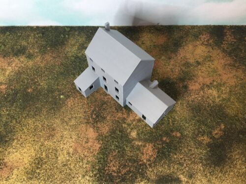 Fully Assembled 3 Story Farm House with Shed and Shop Building N Scale 1:160
