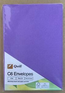 Quill C6 Envelopes Red 25 Pack