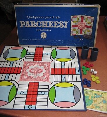 Parcheesi Game Vintage Collectible With Promotional Flyer 1964 110 Ebay