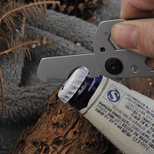 Multifunction Climbing Carabiner EDC Keychain Gear Outdoor Tools Camping Hik gg
