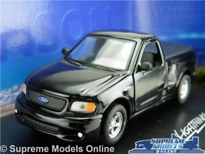 Ford-Lightning-F-150-Voiture-Modele-Echelle-1-43-pick-up-Anson-80801-Noir-SVT-K8Q