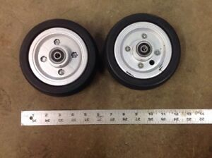 Pair-6-034-x-2-034-Caster-Wheels-Jazzy-Power-chairs-Quickie-Pride-614-Pronto-Quantum