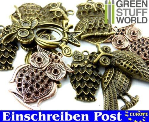 perlen-EULEN EULE Großformat Mix SteamPunk 85 gr. Halskette Kette Schmuck