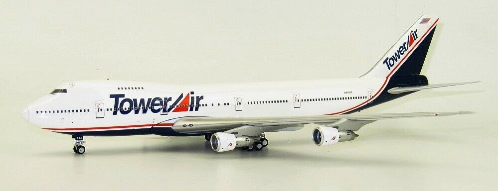 Inflight 200 Wb742ll001 1 200 Tour Air B747-200 N618ff Film Menteur W Support