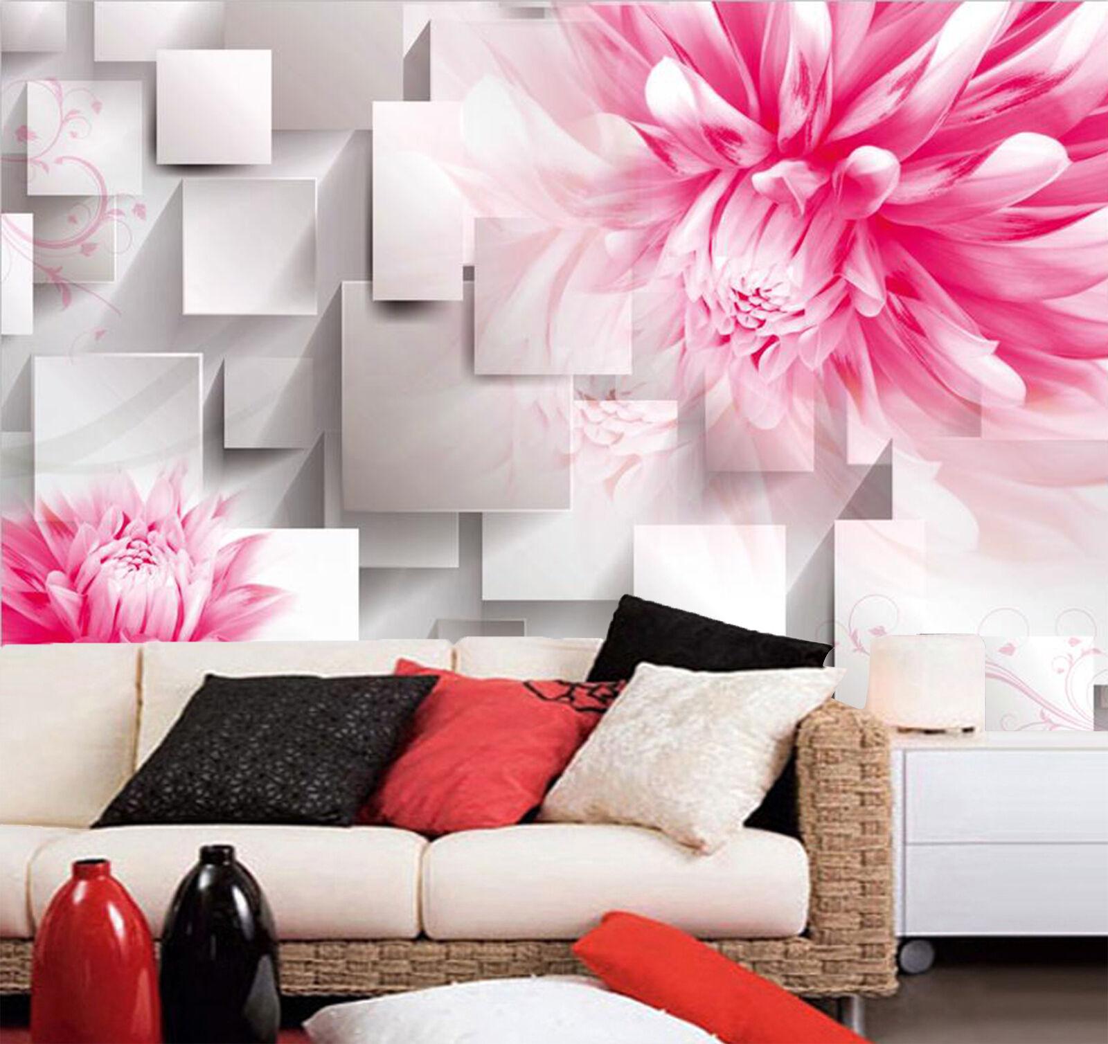 3D Pretty Large Pink Flower 283 Wall Paper Wall Print Decal Wall AJ WALLPAPER CA