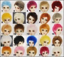 "5/""-6/""14cm BJD fabric fur wig white color for AE PukiFee lati 1//8 Doll Antiskid"
