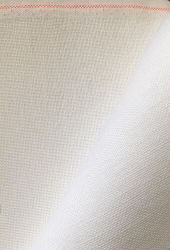 White 28 count Bantry Quaker cloth 50 x 70 cm even weave Zweigart fabric