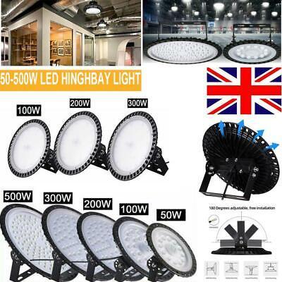 LED High Bay Light 50//100//200//300W//500W Low Bay UFO Warehouse Industrial Lights