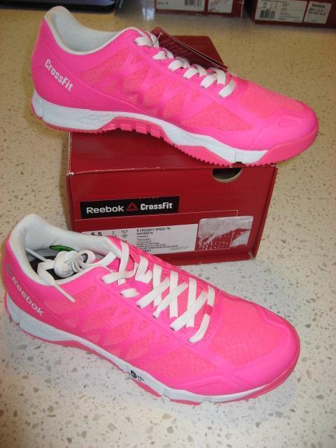 NIB Women's Size 5.5 Reebok Crossfit Speed TR Solar Pink Cross Trainer shoes