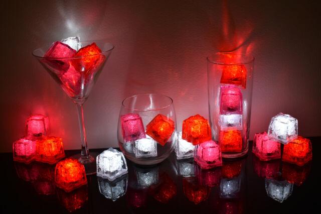 Set of 6 Litecubes Brand 3 Mode RED Light up LED Ice Cubes