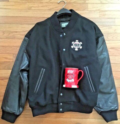 World Series of Poker Wool/Leather Jacket, World P