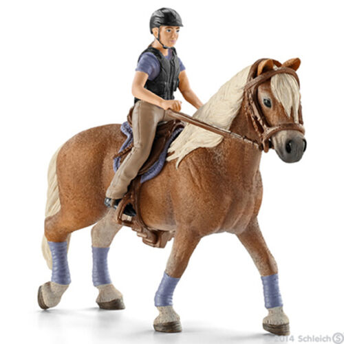 NEW SCHLEICH 42113 Recreational Horse /& Rider RETIRED Equine Riding Set
