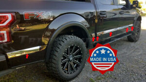 2015-2019-Ford-F-150-Crew-Cab-5-5-039-Short-Bed-Body-Side-Molding-Trim-2-5-8-034-ABL