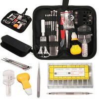 415Pcs Watch Repair Tool Kit Opener Link Remover Spring Bar Band Pin Carry Case