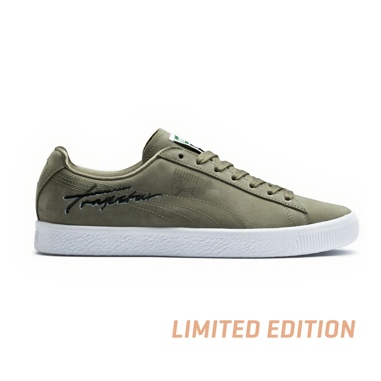 Puma x Trapstar Mens Clyde Bold shoes New Without Box (Burnt olive, 11)