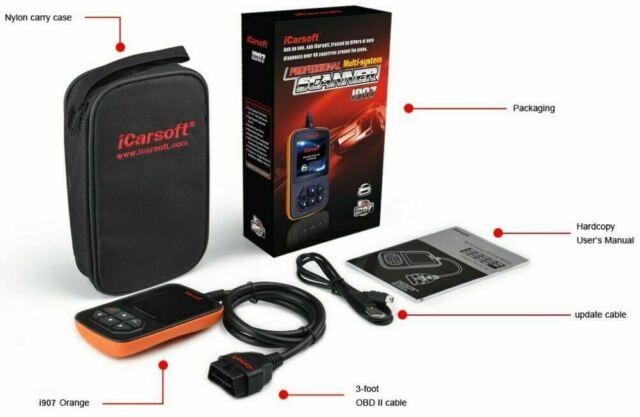 OBD II iCarsoft I907 DACIA RENAULT ECU SRS ABS OIL SERVICE RESET DIAGNOSTIC TOOL