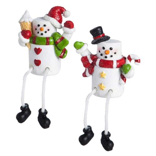 Indoor or Outdoor Christmas Decorations #28D184 2 x Mini Snowman Figures