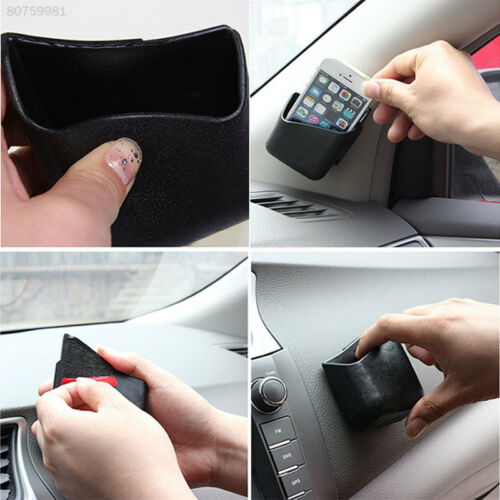 C00E 2pcs Universal Car Auto Accessories Phone Organizer Storage Bag Box Holder
