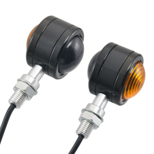 Motorcycle Small Round Double Lens LED Turn Signal Indicator Lights Universal