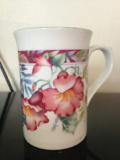 "STAFFORDSHIRE TABLEWARE China Tea Coffee Mug, Floral, 4"" High Exc Cond"