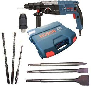 Bosch-Bohrhammer-GBH-2-28-F-mit-Koffer-3-Bohrer-3-Meissel