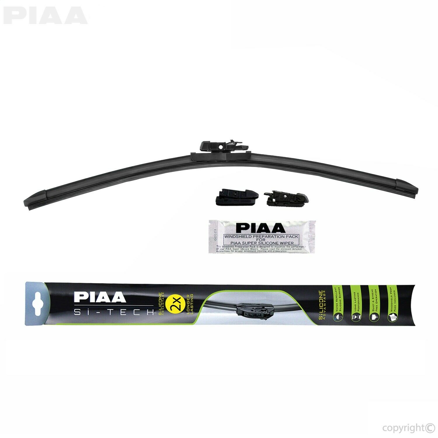 PIAA 97043 Si-Tech Silicone Flat Wiper Blade Pack of 1 17
