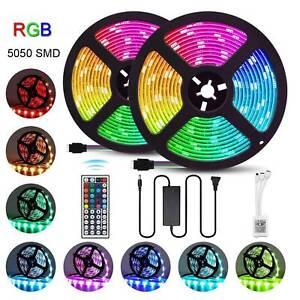 1-10M-5050-SMD-LED-Stripe-RGB-Leiste-Streifen-Band-Licht-Leuchte-Lichterkette