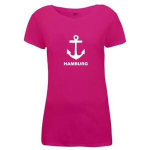 Damen-T-Shirt-Hamburg-Anker-Fun-Motiv