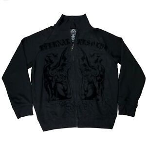 Roar Eternal Resolve Embroidered Distress Jacket Coat Full Zip Size Large