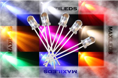 100x 5mm LED tondo molto luminoso diodo Resistore 5mm