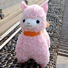 "Japan Amuse Arpakasso Alpacasso Alpaca Pink Lovely Plush Doll 14"" So Cute"