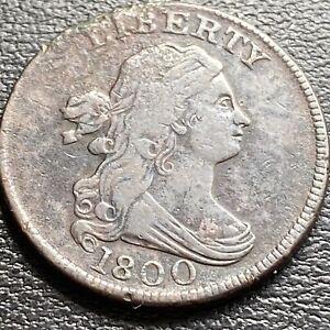 1800 Draped Bust Half Cent 1/2 Cent High Grade  #29032