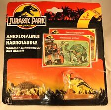 Vintage Jurassic Park 1993 Ankloosaurus and Hadrosaurus 2 piece set with cards