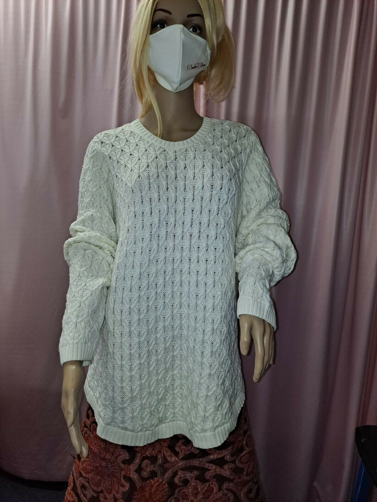 Women's Textured Knit Sweater Cable Knit Pullover… - image 9