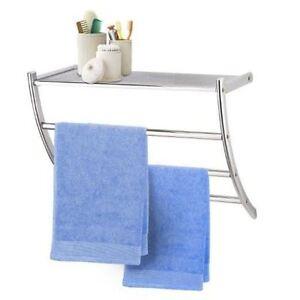 Image Is Loading Bathroom Wall Rack Towel Rail Shelf Unit Storage
