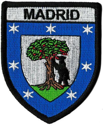 Patche Madrid écusson brodé transfert patch thermocollant Espagne blason
