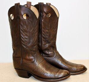Bottes santiag homme DAN POST cuir marron 9D US 8,5 UK 42,5 EUR 27,4 cm