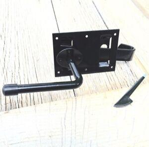 Torschliesser-Torfalle-mit-Klinke-Fallriegel-Tor-Verschluss-Beschlag-Gartentor