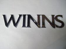 FOUR WINNS *WINNS ONLY* 055-0636 MIRRORED PLASTIC ADHESIVE LOGO EMBLEM DECAL