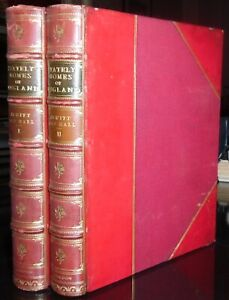 SIGNED-FINE-LEATHER-BINDINGS-ROOT-amp-SON-STATELY-HOME-OF-ENGLAND-JEWITT-1881