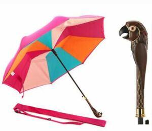 Disney Mary Poppins Returns Multi Stripe Inverted Umbrella Parrot Head Handle Ebay